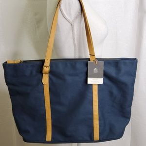 Large Tote Canvas and Leather